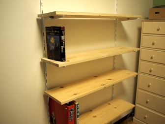 作り付け本棚